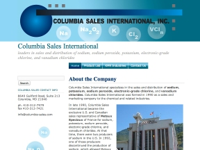 Columbia Sales International website