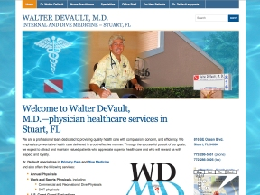 Walter DeVault MD website