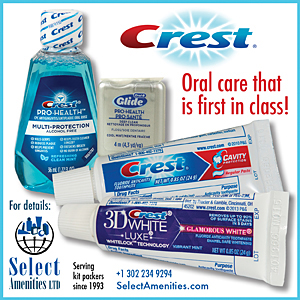 ad for oral-care travel products