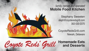 photo of Coyote Reds' Grill business card