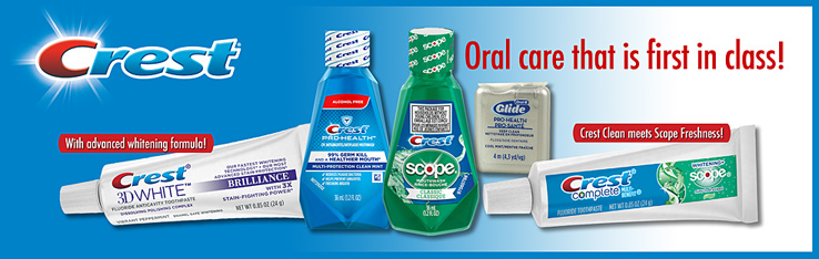 photoillustration of Crest Oral Care products