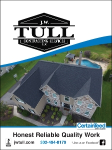 photo of J.W. Tull roofing pocket folder cover