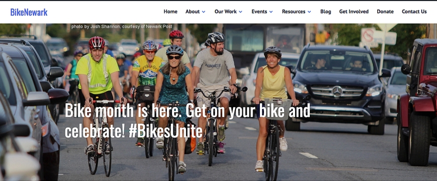 BikeNewark website homepage banner