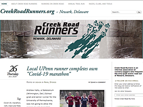 Creek Road Runners homepage